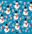 christmas background seamless vector image vector image