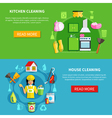 Clean The House Banners vector image vector image