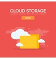 Cloud storage banner concept vector image vector image