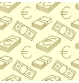 Currency seamless pattern Dollar Euro sign vector image vector image