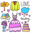 doodle of wedding style collection stock vector image vector image