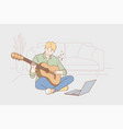 education creativity learning play music vector image vector image