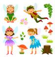 fairies of both genders vector image