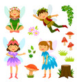 fairies of both genders vector image vector image