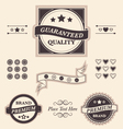 Fancy design elements badges and emblems set vector image