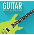 flat classic guitar background concept vector image