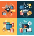 Flat design concepts for cinema movie production