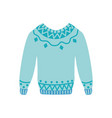 flat warm knitted wool sweater pullover vector image vector image