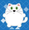 fluffy cat vector image
