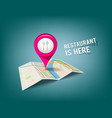 Folded maps with pink color point markers vector image
