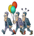 funny little men people with different moods go vector image vector image