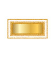 gold frame isolated white background golden vector image vector image