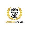 golden caesar logo brand image vector image vector image