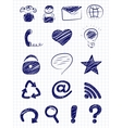 Hand drawn internet and web icons vector image vector image