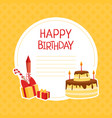 happy birthday banner template with space for text vector image vector image
