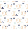 hot air balloons seamless pattern vector image