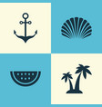 hot icons set collection of trees melon vector image