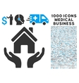 House Care Hands Icon with 1000 Medical Business vector image