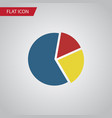 isolated pie bar flat icon graph element vector image