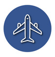 line icon of plane with shadow eps 10 vector image vector image