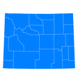 Map of Wyoming vector image vector image