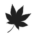 maple leaf black silhouette autumn fallen object vector image