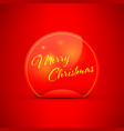 merry christmas peeling sticker vector image vector image