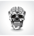 Metal skull brain from gears vector image vector image