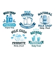 Milk and dairy products isolated icons vector image vector image