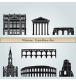 nimes landmarks and monuments vector image vector image