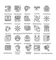 pack of line internet and digital marketing icons vector image vector image