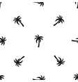palm pattern seamless black vector image vector image