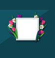 paper cut spring flowers tulip and narcissus vector image vector image