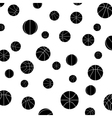 pattern with basketball vector image vector image