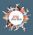 round friends as a symbol new year party vector image