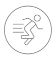 Running man line icon vector image vector image