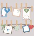 set of cute frames for girls vector image