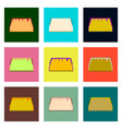 set pixel icons of tacos vector image vector image