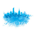 splash of water and city vector image