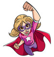 super girl flying vector image vector image