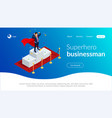 superhero businessman or manager concept vector image vector image