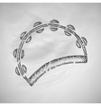 tambourine icon vector image vector image