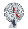 time management concept for web banner vector image