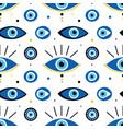 turkish blue eye-shaped nazar amulets pattern vector image vector image