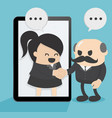 two business men and women chatting via vector image vector image