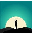two enamored under moon vector image vector image