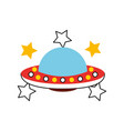 unidentified flying object icon vector image