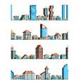 urban stores landscape city exterior building vector image vector image