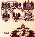 vintage heraldry emblems vector image
