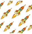 vintage rocket seamless background vector image vector image
